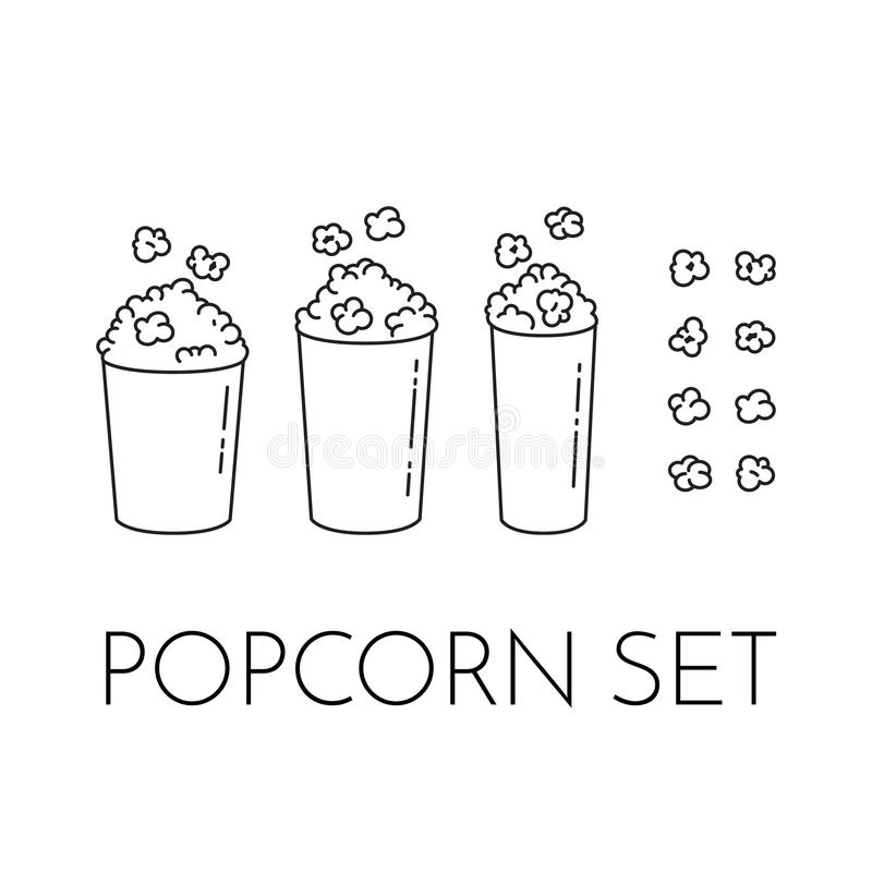 Popcorn Kernels Stock Illustrations – 299 Popcorn Kernels Stock