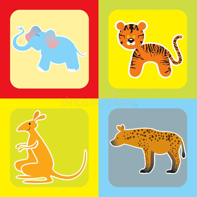 Download Set Of Cute African Animals -2 Stock Vector - Illustration of funny, nice: 21228039