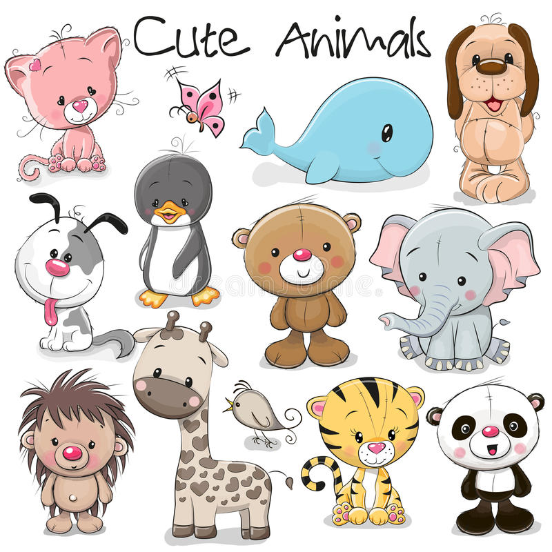 Set of Cute Animals vector illustration