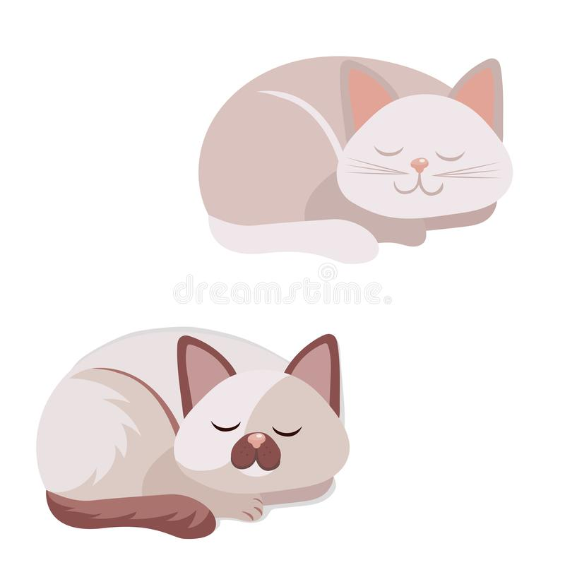 Set cute cat. Vector illustration stock image