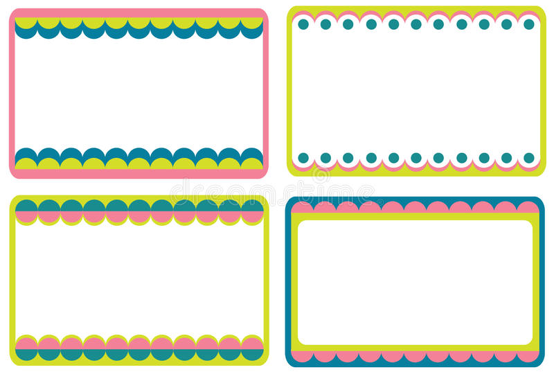 Download Set of cute frames stock vector. Image of gift, decorative - 18168427