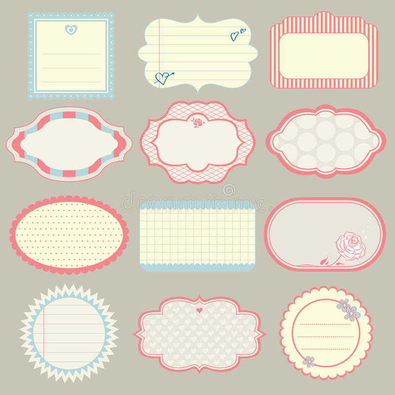 Set of cute frames stock vector. Illustration of notes - 35914592