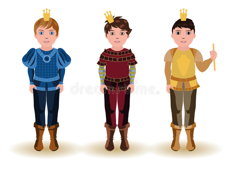 Set cute little prince royalty free illustration