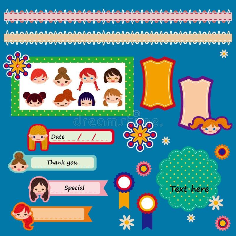 Download Set Of Cute Scrapbook Elements. Vector Illustration Stock Vector - Image: 24182349