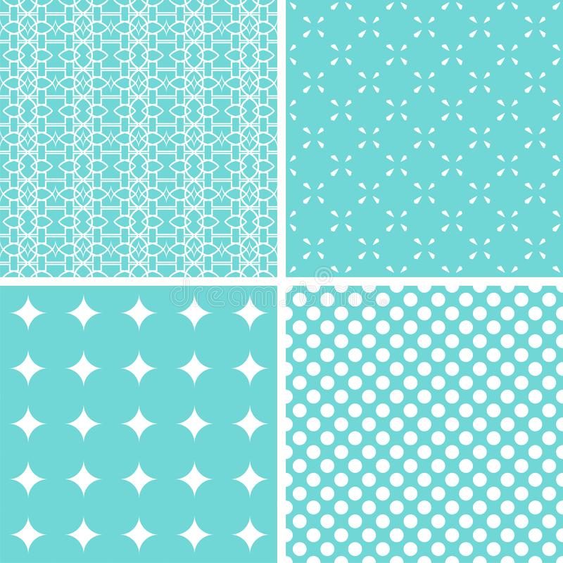 Set of cute seamless patterns royalty free stock photos