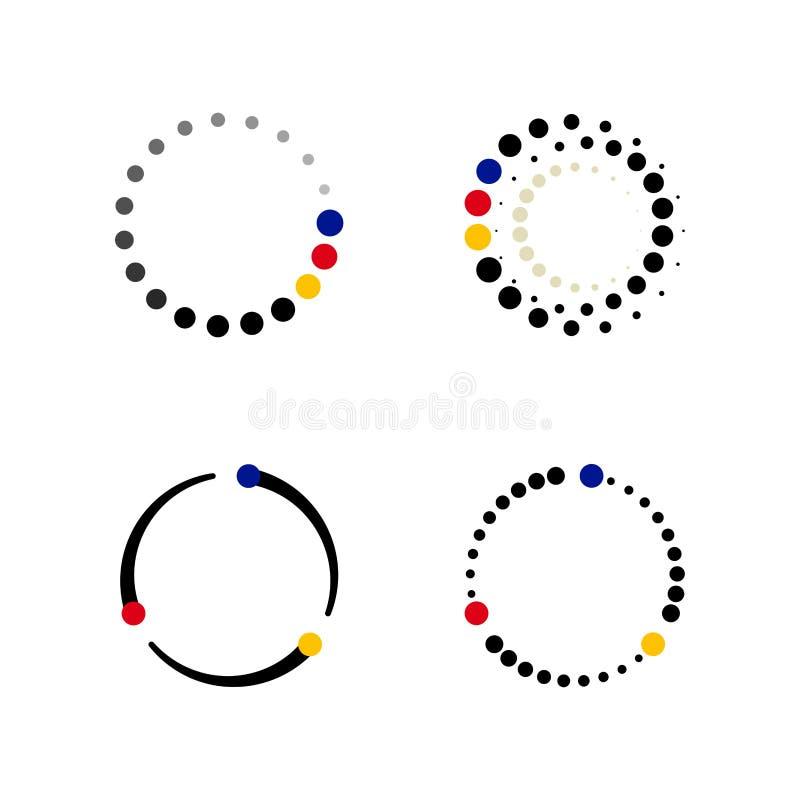 Set cykli/lów dane techniki tło royalty ilustracja