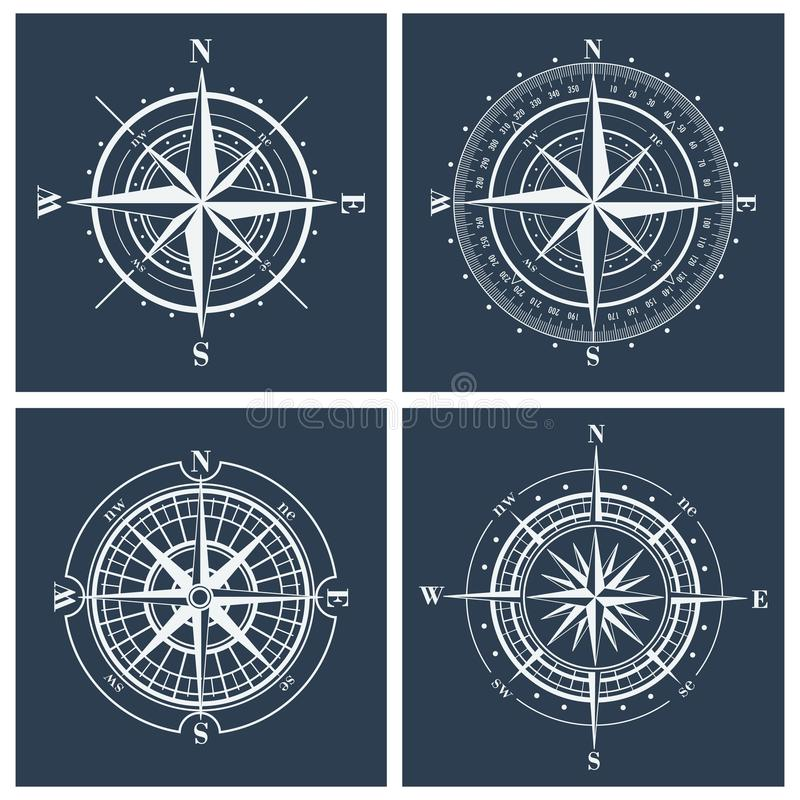 Set cyrklowe róże również zwrócić corel ilustracji wektora ilustracja wektor