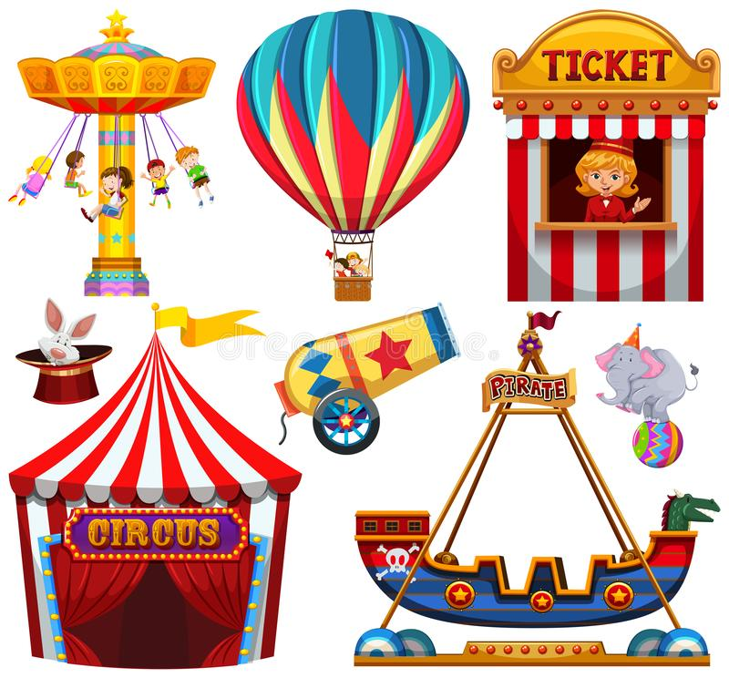 Set cyrkowy przedmiot ilustracja wektor