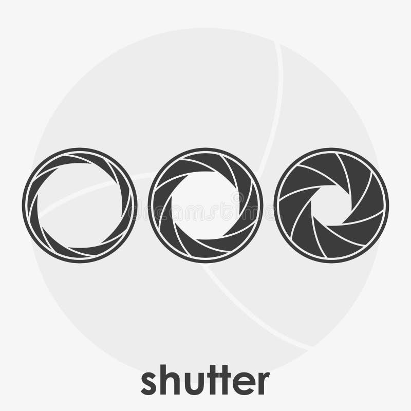 Set czarny i biały kamer żaluzji wektoru ilustracja ilustracji