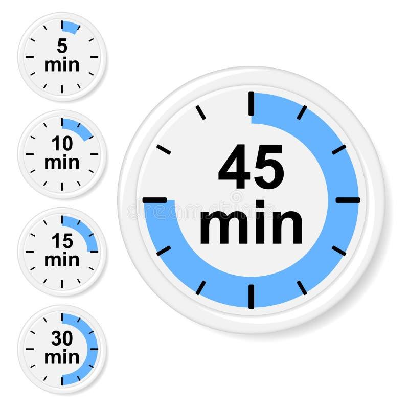 Set czas ikony ilustracja wektor