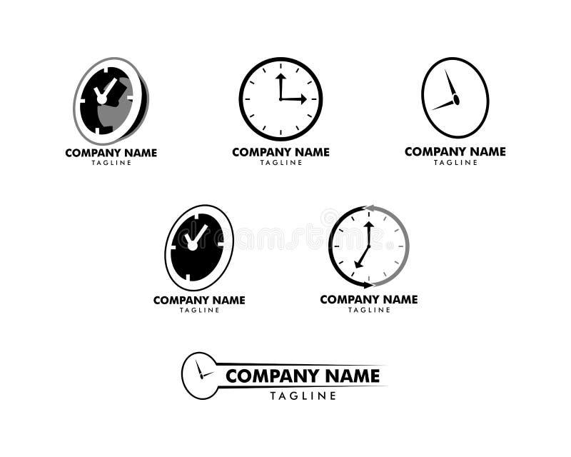 Set czasu zegaru logo projekta szablon ilustracji