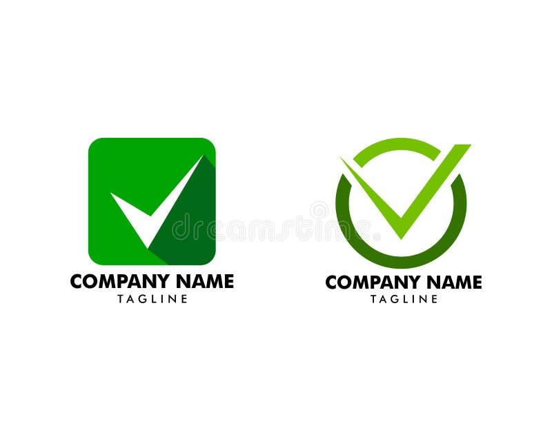 Set czek oceny logo ikona lub wektor royalty ilustracja