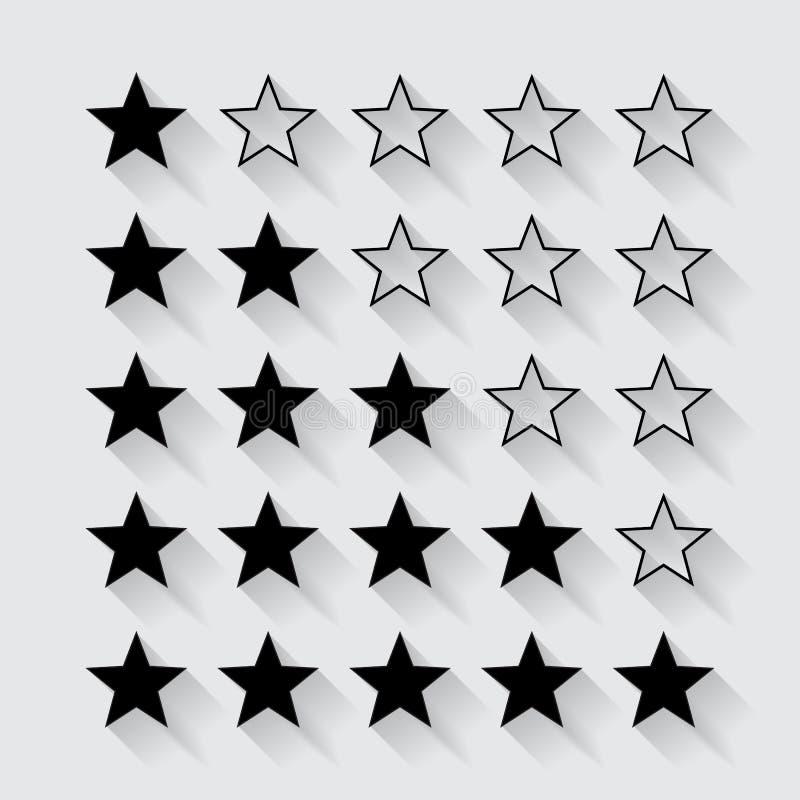 Set czerń gra główna rolę ocenę ilustracji