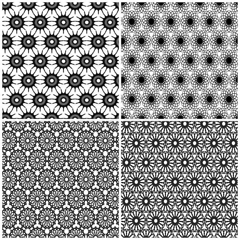 Set cztery bezszwowy wzór ilustracja wektor