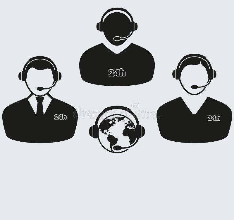 Set cztery centrum telefoniczne ikony royalty ilustracja