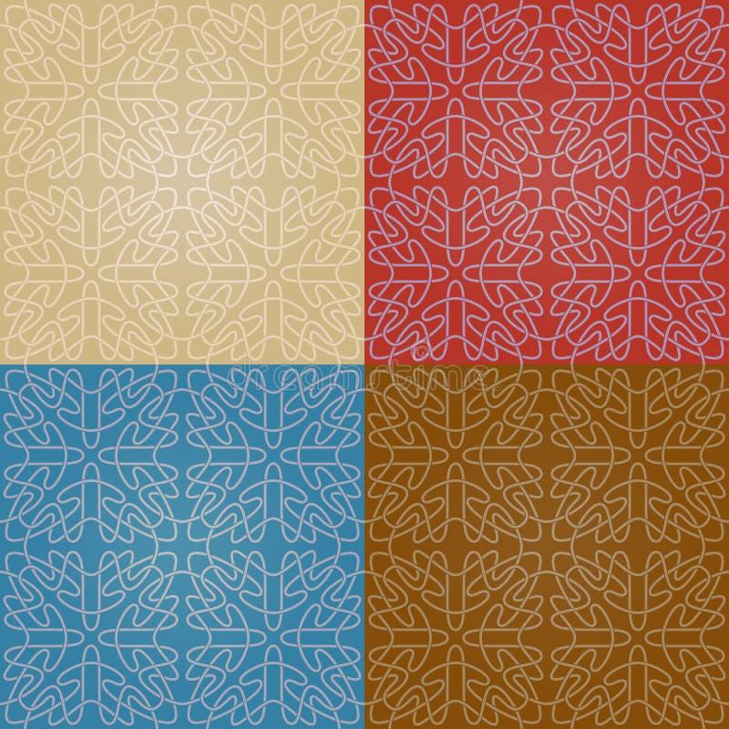 Set cztery kolorowego bezszwowego abstrakta wzoru z gradientem royalty ilustracja