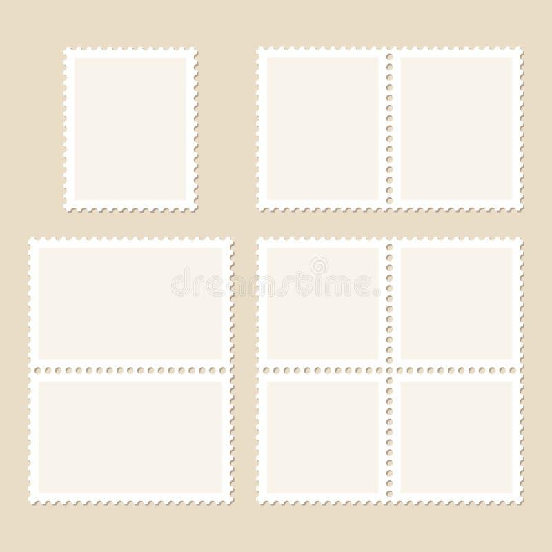 Set Cztery znaczka Pojedynczy I Dwoistego beż ilustracji