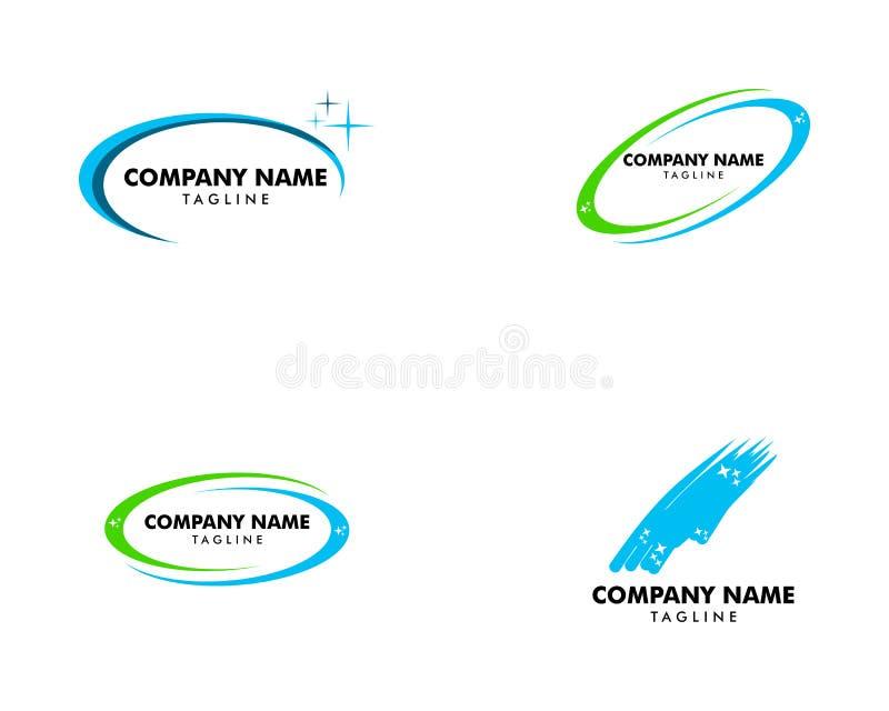 Set Czyści poważnego interesu logo projekt royalty ilustracja