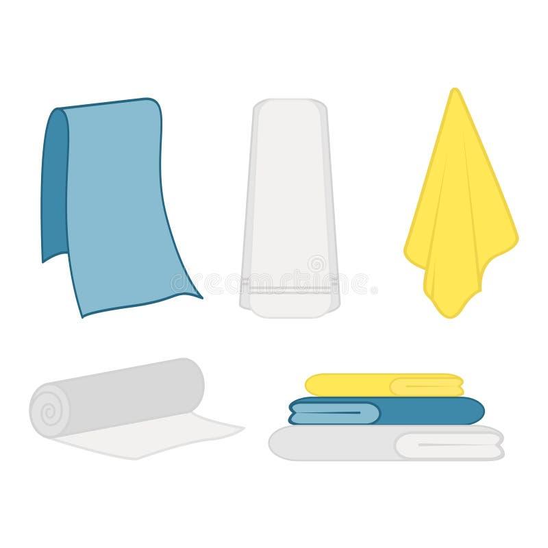 Set czysty ręcznik ilustracja wektor