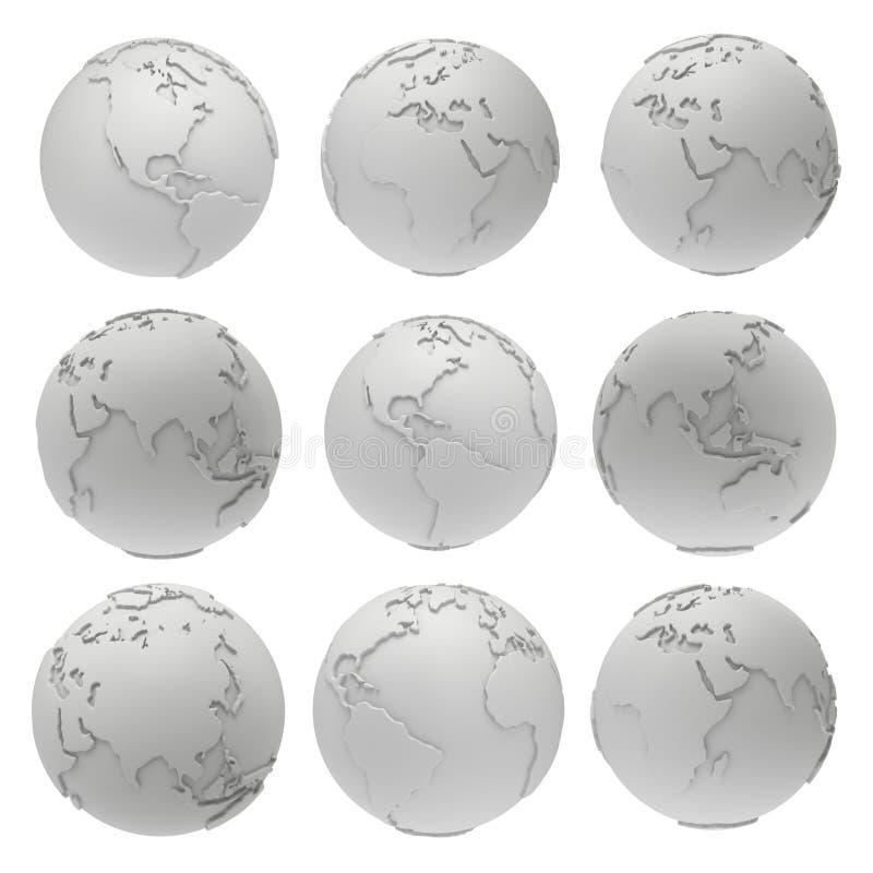blank globe template