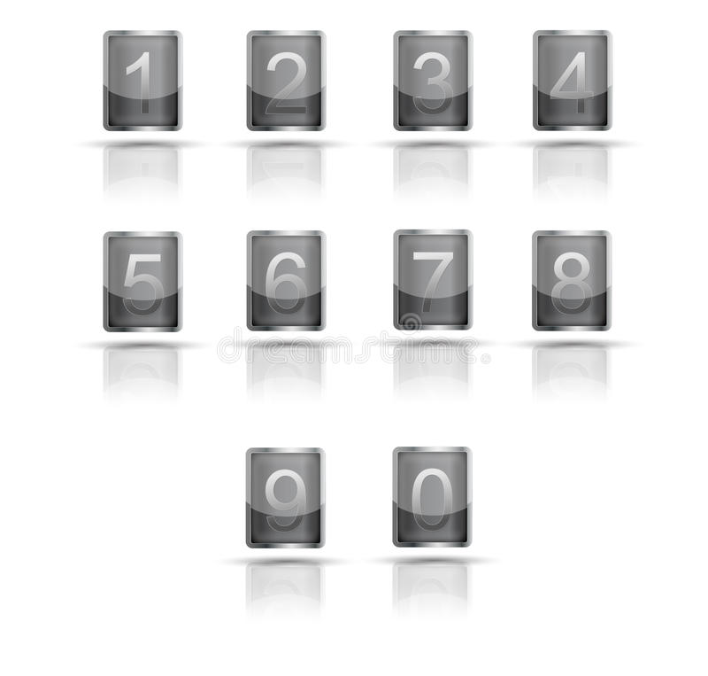 A set of 3D icons digits.Vector royalty free stock photos