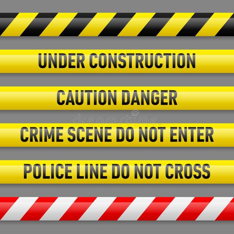 Set of danger tapes vector illustration