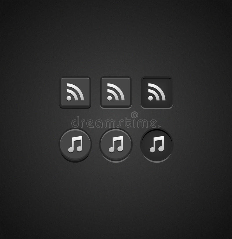 Download Set Of Dark Check Buttons Royalty Free Stock Image - Image: 26736946