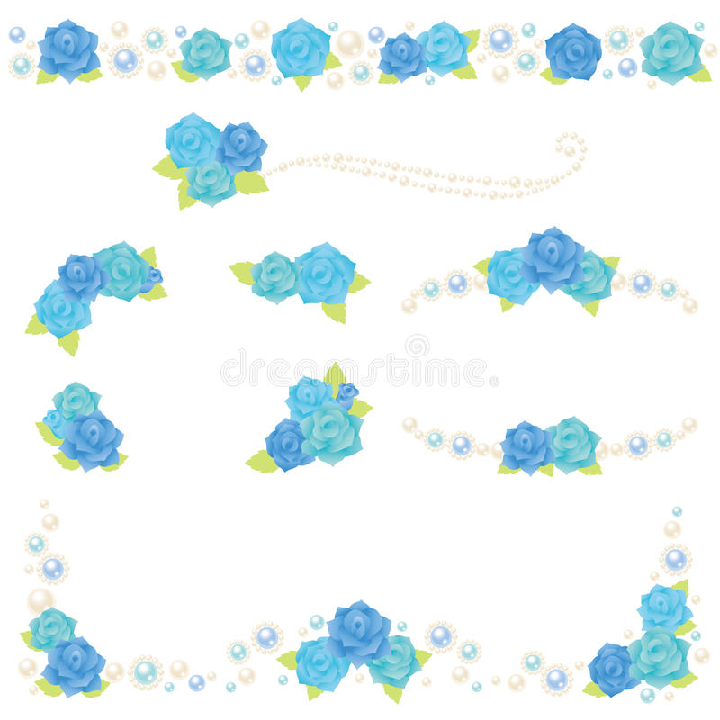 Download Blue Rose Pearl Frame Royalty Free Stock Photo - Image: 29785515