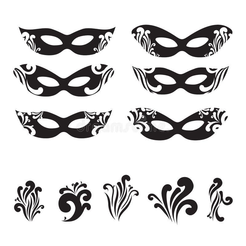 Set of decorative borders, line art filigree frames. For invitation, flayer, cover, greeting card, monogram vector illustration