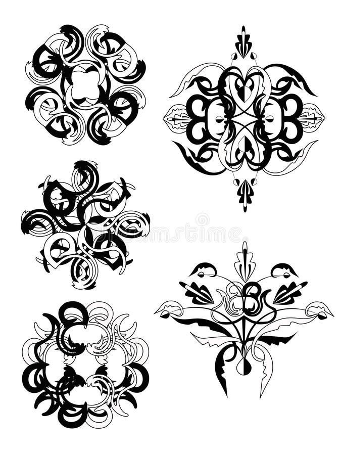 Download Set of decorative elements stock vector. Image of illustration - 14914797