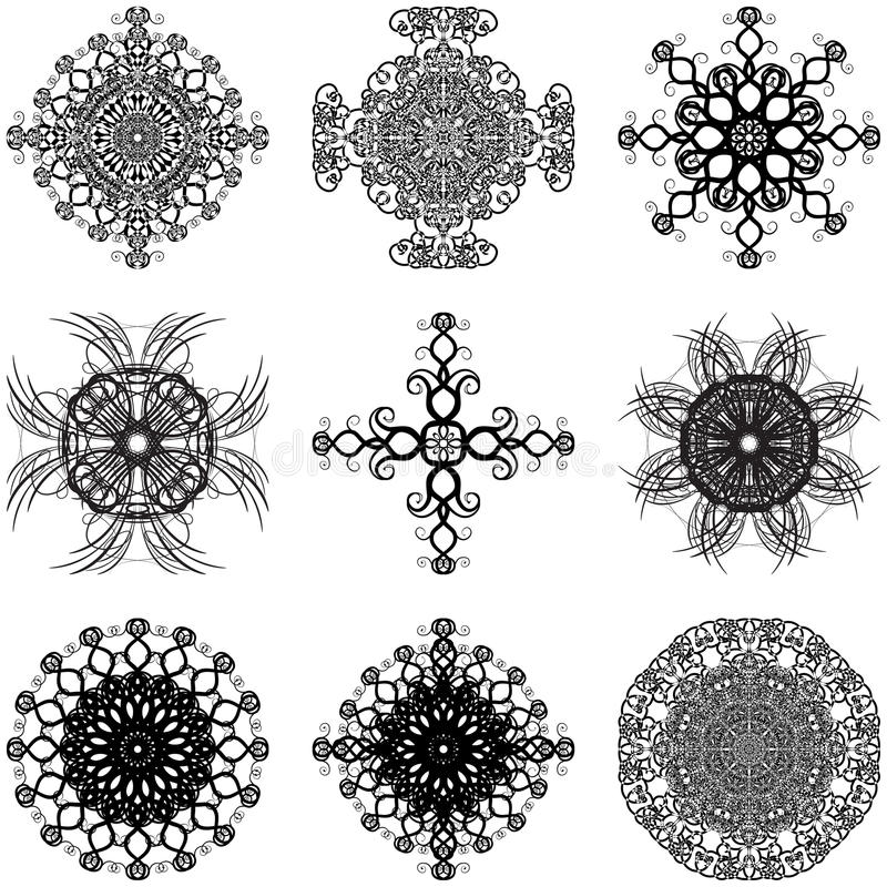Download Set Of Decorative Elements Royalty Free Stock Photos - Image: 18337428