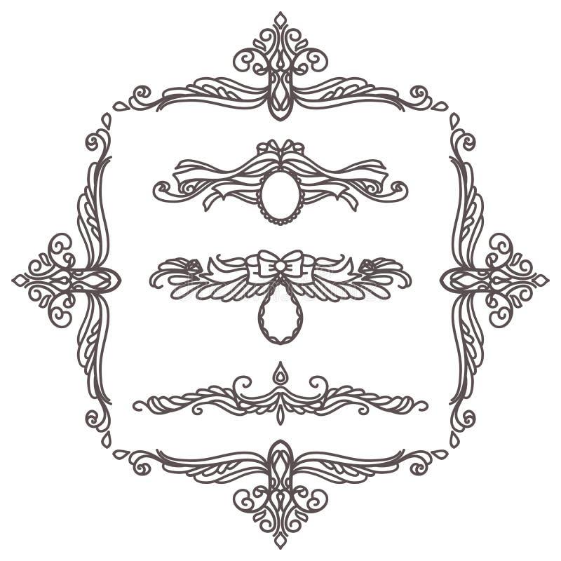 Set of decorative elements royalty free illustration