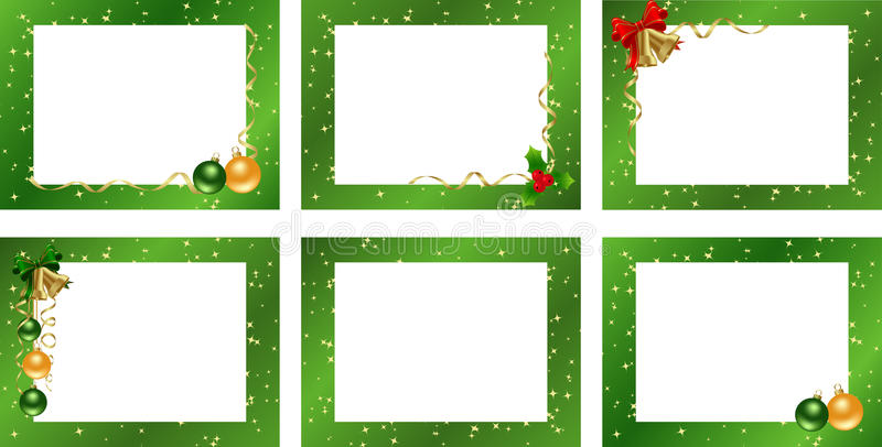 Set decorative frames stock illustration