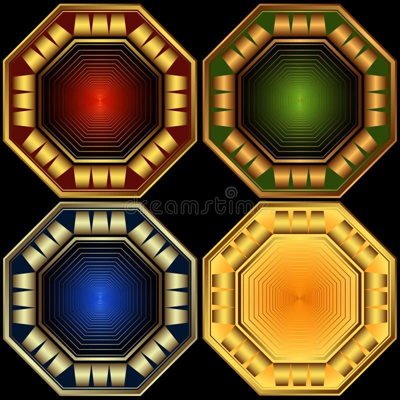 Download Set Decorative Octagonal Frames Stock Vector - Image: 12949863