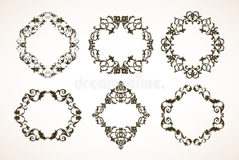 Set Of Decorative Patterned Frames Stock Vector - Illustration of ...