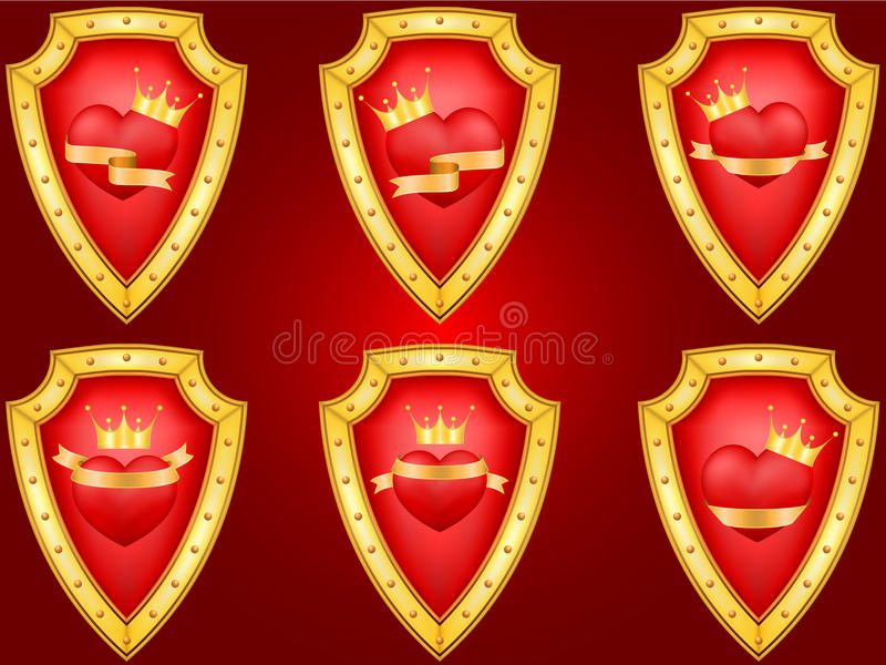 Download Set Of Decorative Saint Valentine's Elements Stock Illustration - Illustration: 22865264