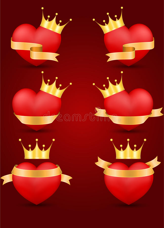 Download Set Of Decorative Saint Valentine's Hearts Royalty Free Stock Photography - Image: 22777327