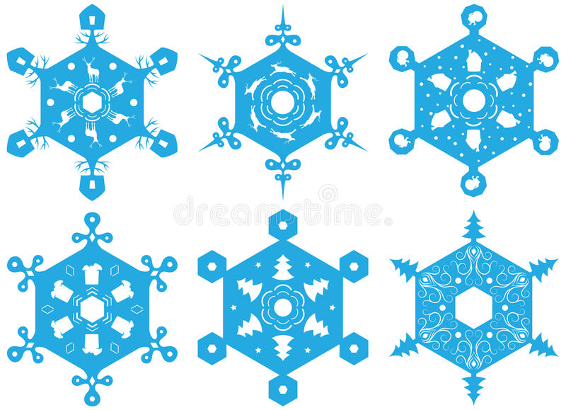 Download Set Of Decorative Snowflakes Stock Vector - Image: 27896081