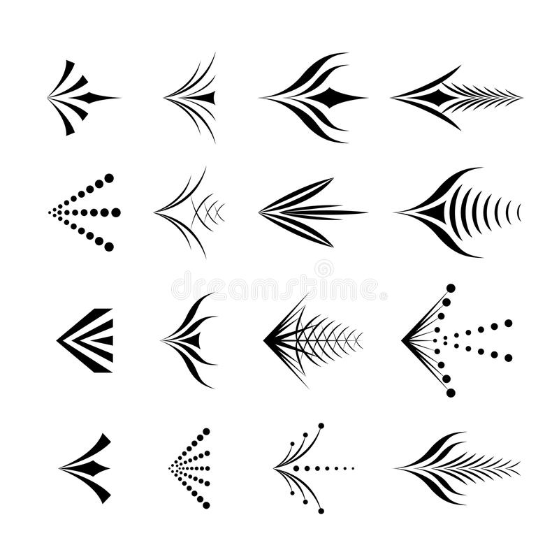 Set dekoracyjne graficzne strzała ilustracja wektor