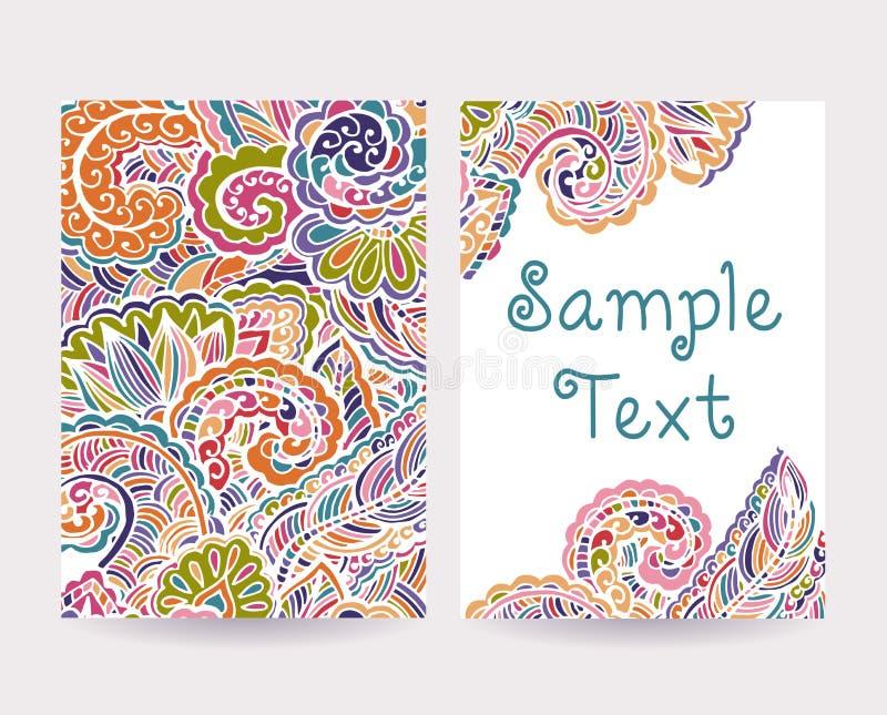 Set Dekoracyjne karty 2 ilustracji