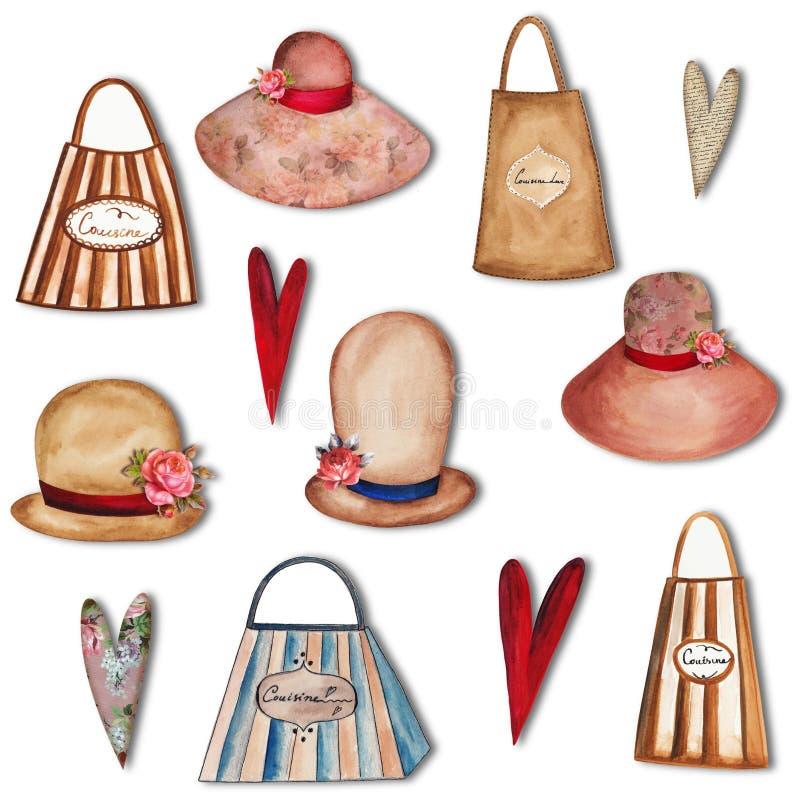 Set dekoracyjni elementy ilustracji