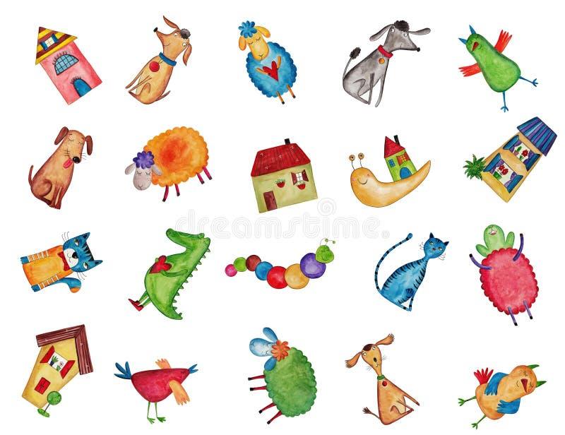 Set dekoracyjni elementy ilustracja wektor