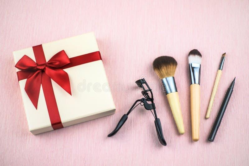 Set dekoracyjni kosmetyki dla uzupe?nia fotografia stock