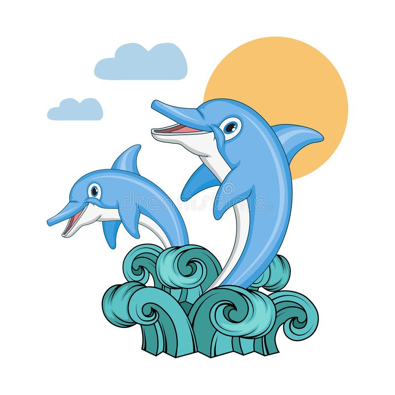 Set delfin Kreskówka delfin pochodzenie zwierząt kolorów plam Croatia foto ogniska piękną ośmiornice octpous bardzo zróżnicowany  ilustracji