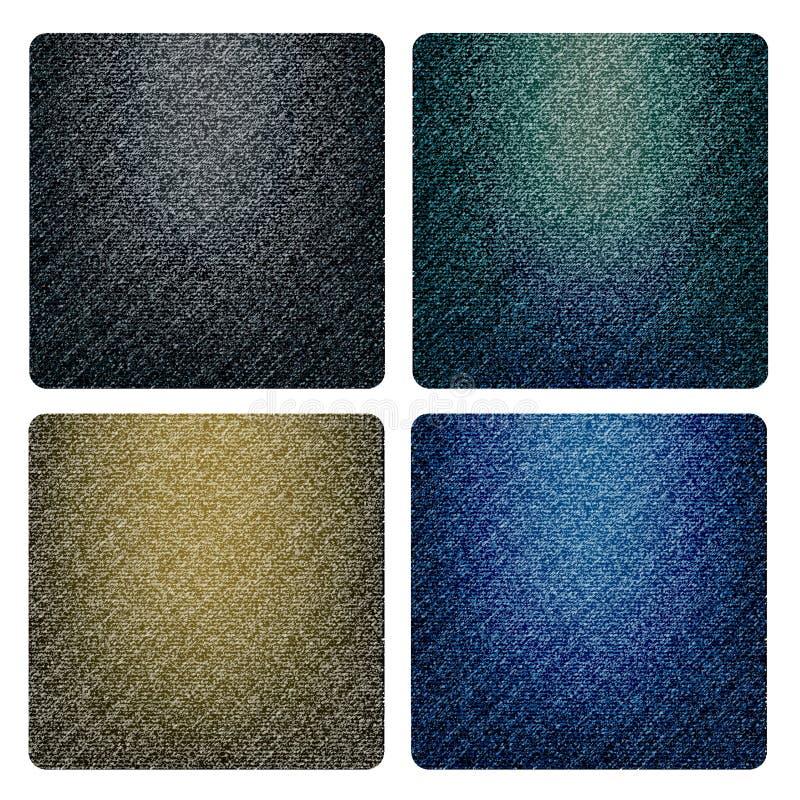 Set Of Denim Textures Stock Image