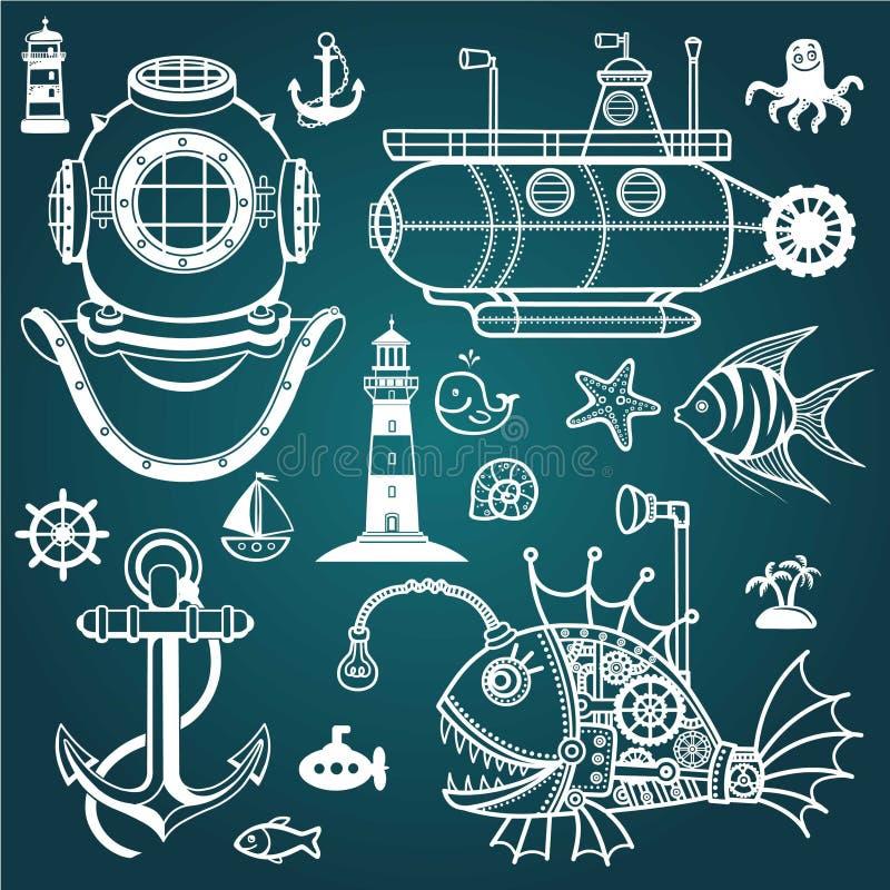 Set denni symbole ilustracji