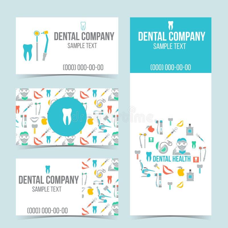 Set Of Dental Business Cards Stock Vector - Illustration of dental ...