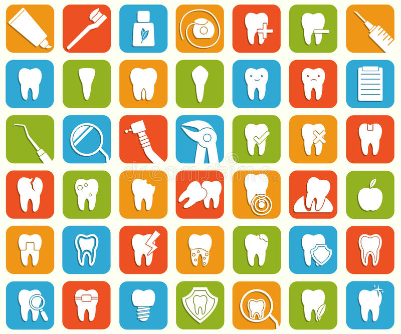 Set of dental icons vector illustration