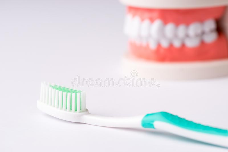 Set of Dentist`s equipment tools, denture showing implant. SONY A7 stock photography