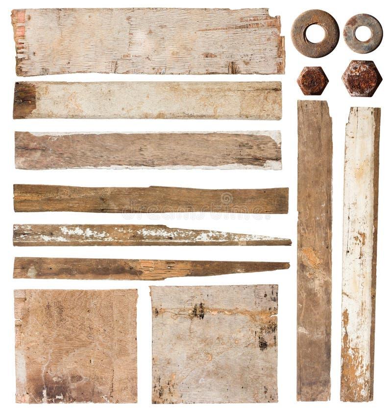 Set der hölzernen Planke lizenzfreie stockfotos